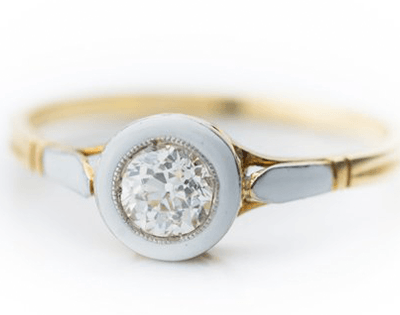 Diamond-Cut Solitaire Engagement ring